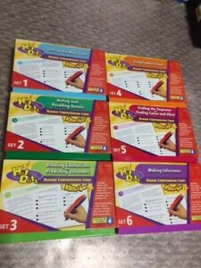 Educational Insights Hot Dots READING COMPREHENSION 6 SETS 300 Cards Grades 2-6