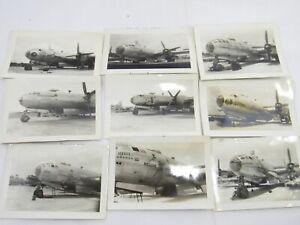 9 x ORIGINAL WW2 PHOTOGRAPHS, B-29 NOSE ART, TINIAN