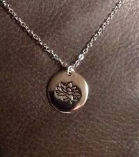 Lotus Flower Ohm Necklace 925 Sterling Silver Charm Jewelry NEW Om Yoga Namaste