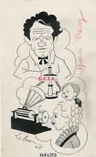 S.TRACY - PORTRAIT/CARICATURE -ORIGINAL par LEBON 1945