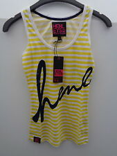 2X LADIES HENLEYS YELLOW STRIPED VEST Size - XS  (W25)
