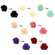 10mm Rose Flower Hypoallergenic 925 Sterling Silver Stud Earrings For Kids/Girl