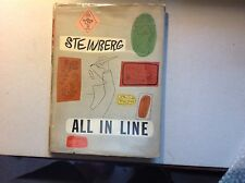 Saul Steinberg -All In Line- 1945 Duell 1St-Inscribed With Drawing + Dj Scarce
