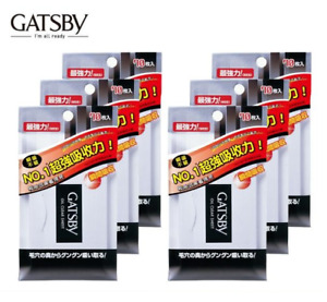 ( Pack of 6 ) Gatsby Oil Clear Paper ~ 70 Sheets