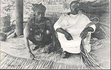 Sierra Leone - Making a mat - postcard, KEVII stamp c.1903-5