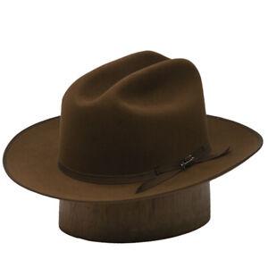 STETSON OPEN ROAD COGNAC ROYAL DELUXE FUR FELT DRESS HAT