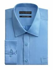 Camicie classiche da uomo blu in cotone 39-40