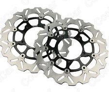 Front Brake Disc Rotors For Suzuki GSXR600 GSXR750 06-07 & GSXR1000 05-08 Black