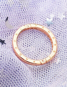 Authentic 14k Rose Gold Pandora Logo and Hearts Ring 189482C01 size 7.5