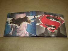 DC COMICS BATMAN vs SUPERMAN WALLET DAWN OF JUSTICE EXCLUSIVE COLLECTIBLE RARE