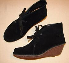 """Marsden Lily"" Clark's Women/Ladies Black Suede Ankle Boots size 4.5 D."