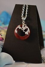 RED JASPER  PENDANT WITH MYTHOLOGICAL SERPENT SYMBOL [26/1/8]