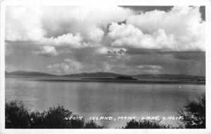 Mono California 1946 Negit Island Frasher RPPC Photo Postcard 21-4805