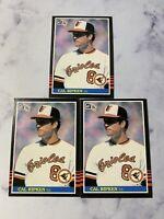 Lot of 3 1985 Donruss Cal Ripken Jr. Baseball Cards #169 Baltimore Orioles