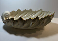 Lenox Acanthus Leaf Candy-Serving Dish Ivory Gold Trim 9� Long