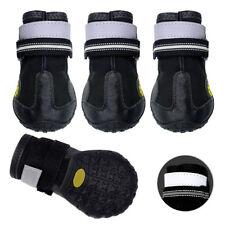 Impermeable perro Zapatos Botas Antideslizante Perro Reflectante Negro para Perros Medianos Grandes