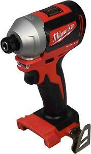 "Milwaukee 2850-20 M18 18V Li-Ion Cordless Brushless 1/4"" Hex Impact Driver Drill"