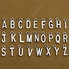 Set A-Z 26 Alphabet Letter Charms Pendant Beads Jewellery Making S576T