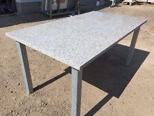 Gartentisch Terrassentisch Steintisch Natursteintisch mit Stahlgestell verzinkt