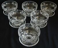 Stuart England Ludlow Set of 6 Dessert Bowls w/ attached Saucers