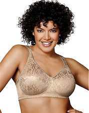 New Bra Playtex 18-Hour Ultimate-Lift-Support WireFree Nude 4745 MSRP-$35. 44DD
