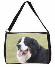 More details for bernese mountain dog large black laptop shoulder bag school/college, ad-ber1sb