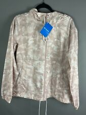 BNWT Columbia Ladies Coat Size Large Flash Forward Windbreaker Light Pink Patter