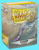 100 DRAGON SHIELD CLASSIC Standard Size CLEAR Card Sleeves deck protector magic