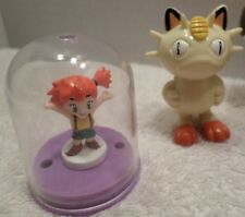 "POKEMON Nintendo PVC Figure Lot 1st Gen MEOWTH 1999 & MISTY in Dome 2000 2"" Toy"
