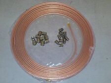COPPER BRAKE PIPE  25FT 3/16 1 ROLL +10 NUTS FEMALE 10 NUTS MALE 10MM