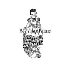 Vintage Toaster Cover Doll Pattern ~ Peasant Girl