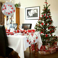 Tablecloth Home Table Christmas Table Decor Cover Embroiderd Xmas Party Runner