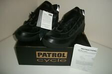 Patrol Cycle Bike Patrol Officers Cycling Shoes - BLACK - Size US 11-11.5 EUR 45