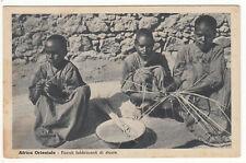 CARTE POSTALE AFRICA ORIENTALE PICCOLI FABBRICANTI STUOIE