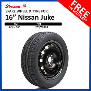 """16"""" SPARE WHEEL FOR NISSAN JUKE 2010 - [onwards] FULL SIZE STEEL  AND TYRE"""