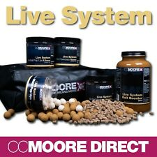 CC MOORE LIVE SYSTEM BOILIES, POP UPS, WAFTERS, PELLETS, BAG MIX, BOOSTER RANGE