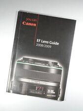 2008 / 2009 CANON CAMERAS EF LENS GUIDE SALES CATALOGUE BROCHURE UK