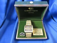 Watchmaker Estate Now Old Stock Croton Men's Aquamatic Wrist Watch Original Box