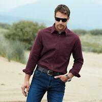Samuel Windsor Mens Moleskin Shirt Smart Casual Long Sleeve Cotton Sizes S-XXXL
