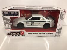 Nissan Skyline GT-R R34 2002 White 1:32 Scale Jada 99139