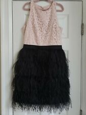 Milly Minis Girls Ostrich&Lace Sz16