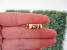 .02 Carat Diamond Twotone Gold Men's Wedding Ring 18k WR130 sep
