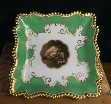 Flight Barr & Barr Worcester square dish, Shell panel, c. 1815