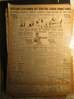 Baseball Babe Ruth Newspaper History HITS 18TH HOMER + BOXING STRIBLING