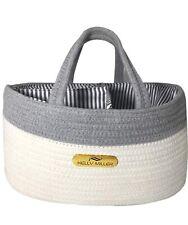 Baby Diapers Caddy Organizer, Rope Basket, Large Sturdy Storage