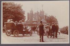 London GREENWICH nice close up crowds & auto pre1919 RP PPC