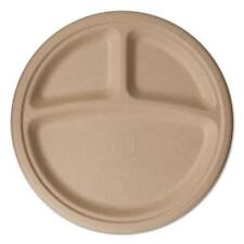 "Eco Products EPPW103 Wheat Straw Dinnerware, 3 Compartment Plate, 10"" Diameter,"