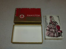 VINTAGE HAMILTON GILDED EDGES CARD PLAYING CARDS GAME SET W BOX DECK SEALED NEW