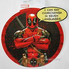 Marvel Deadpool Sword Round Arms Crossed Chimichanga Diecut Vinyl Wall STICKER