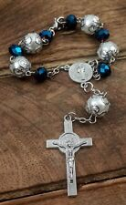 Saint Benedict Rosary Car Rearview Protection Charm Catholic NR Medal & Cross